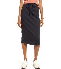 treasure & bond drawstring waist knit skirt, size x-small in black at nordstrom
