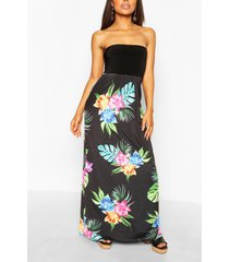 petite bandeau maxi-jurk, zwart