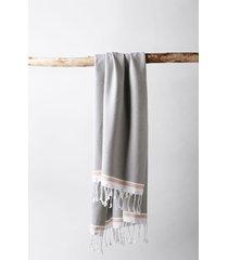 coyuchi mediterranean bath 6-piece organic cotton towel set, size 6 piece set - grey