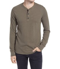 men's rag & bone classic slim fit henley, size xx-large - green