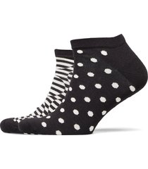 2-pack optic dot low sock ankelstrumpor korta strumpor multi/mönstrad happy socks