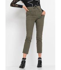 high waist broek met vetersluiting