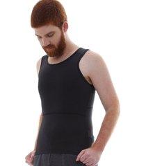cinta slim fitness modeladora postural p - preto - masculino - dafiti