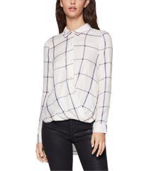 bcbgeneration striped surplice high-low top