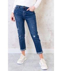 damaged jeans dark blue