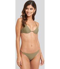 na-kd swimwear bikinitrosor med tunna band - green