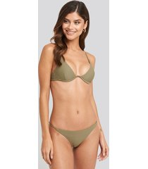 na-kd swimwear thin strap bikini briefs - green