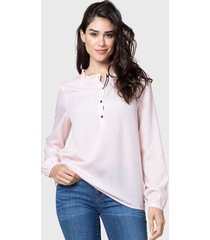 blusa nautica rosa - calce regular