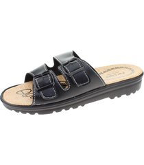 sandalia confort negro vía franca