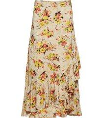 thin semi skirt knälång kjol multi/mönstrad by ti mo