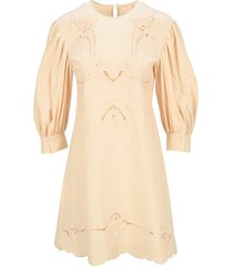 see by chloé see by chloe embroidery dress