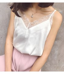 white lace silky tank top summer sleeveless tank white bridesmaid lace top shirt