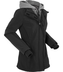 giacca lunga in softshell 2 in 1 (nero) - bpc bonprix collection
