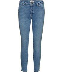 nicole 601 crop skinny jeans blå 2nd