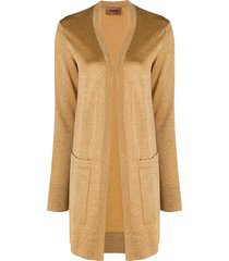 missoni relaxed-fit cardigan - gold