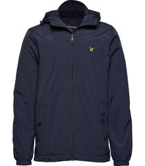 microfleece lined zip through jacket tunn jacka blå lyle & scott