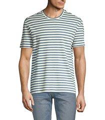cotton & silk boucle stripe t-shirt
