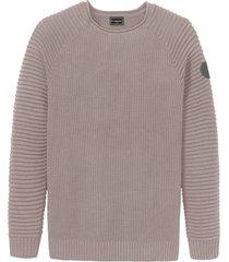 maglione in poliestere riciclato e lino (grigio) - rainbow