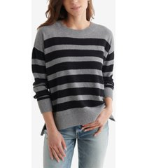 lucky brand blocked striped sweater