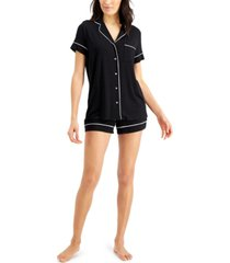 alfani super soft modal top & shorts pajama set, created for macy's