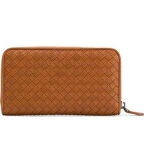 bottega veneta classic zip-around wallet - brown