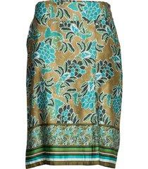 bahiacr skirt knälång kjol grön cream