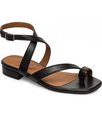 sandals 4026 shoes summer shoes flat sandals svart billi bi