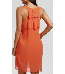 bowknot chiffon mini tank dress