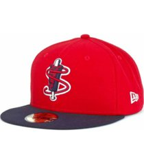 new era lowell spinners milb 59fifty cap