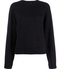 helmut lang buckle sleeve sweatshirt - blue