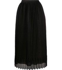 marco de vincenzo pleated midi skirt - black