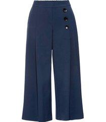 pantaloni cropped a gamba larga (blu) - bodyflirt