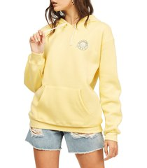billabong way to go hoodie, size x-large in stay golden at nordstrom