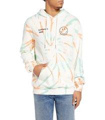 men's elevenparis labech smiley tie dye hooded sweatshirt