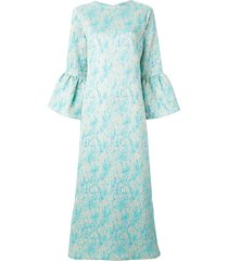 bambah camelia long kaftan dress - blue