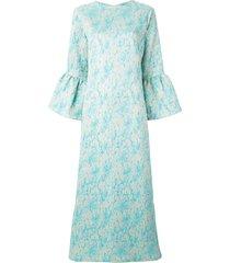 bambah camelia long kaftan dress - blue