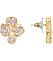 nina cubic zirconia cluster stud earring
