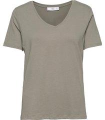 short sleeve cotton t-shirt t-shirts & tops short-sleeved grön mango