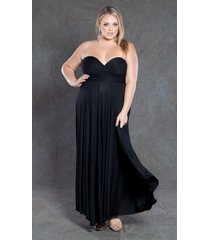 swak designs sexy black eternity wrap maxi dress, versatile party festive fun