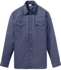 camicia in twill con maniche regolabili (blu) - john baner jeanswear