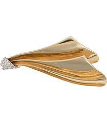 katheleys vintage diamond embellished pleated brooch -
