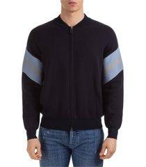 maglione maglia uomo con zip
