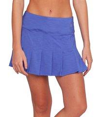 eleven by venus williams women's flutter pleated skirt - baja blue - size xl