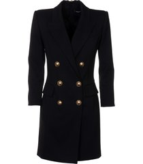 balmain double-breasted rear zipped dress