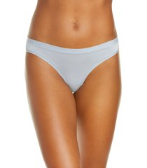 women's madewell softest stretch modal thong, size large - blue