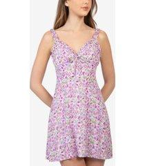 b darlin juniors' floral-print poplin dress