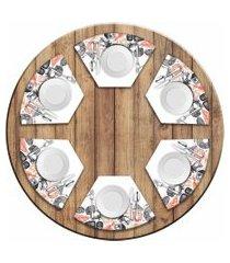 jogo americano love decor  para mesa redonda wevans menu sushi kit com 6 pçs