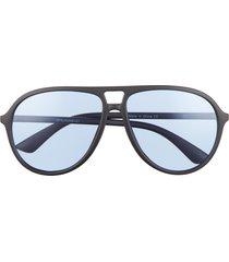 bp. aviator sunglasses in black- blue at nordstrom