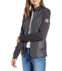 women's canada goose windbridge zip front sweater jacket