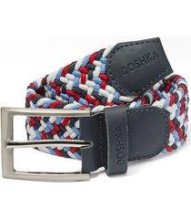 cinturón trenzado combinado rojo/blanco/azul doshka
